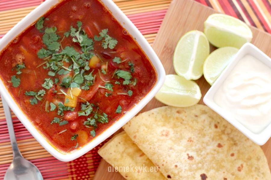 Pikantna zupka meksykańska z chorizo