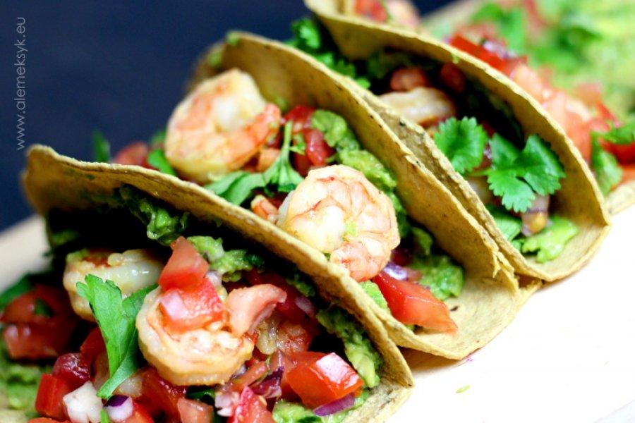 Meksykańskie tacos z krewetkami