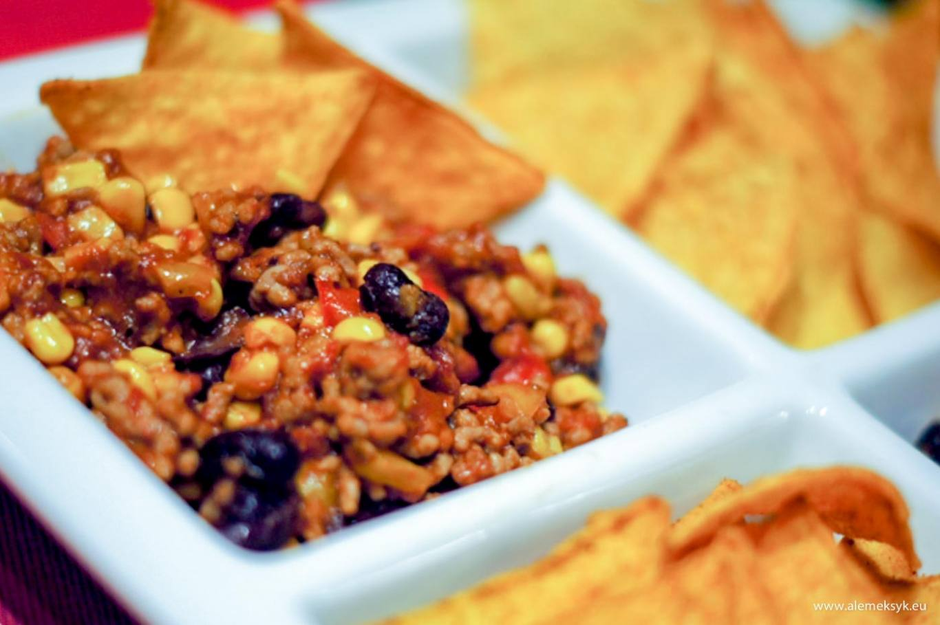 Chili con carne z nachos