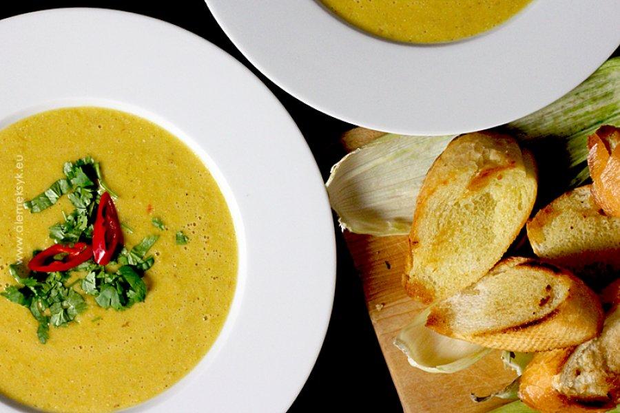 Zupa krem z grillowanej kukurydzy na ostro