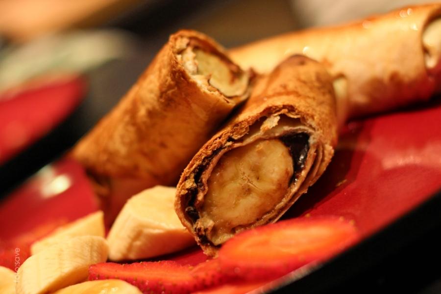 Banan w chrupiącej tortilli