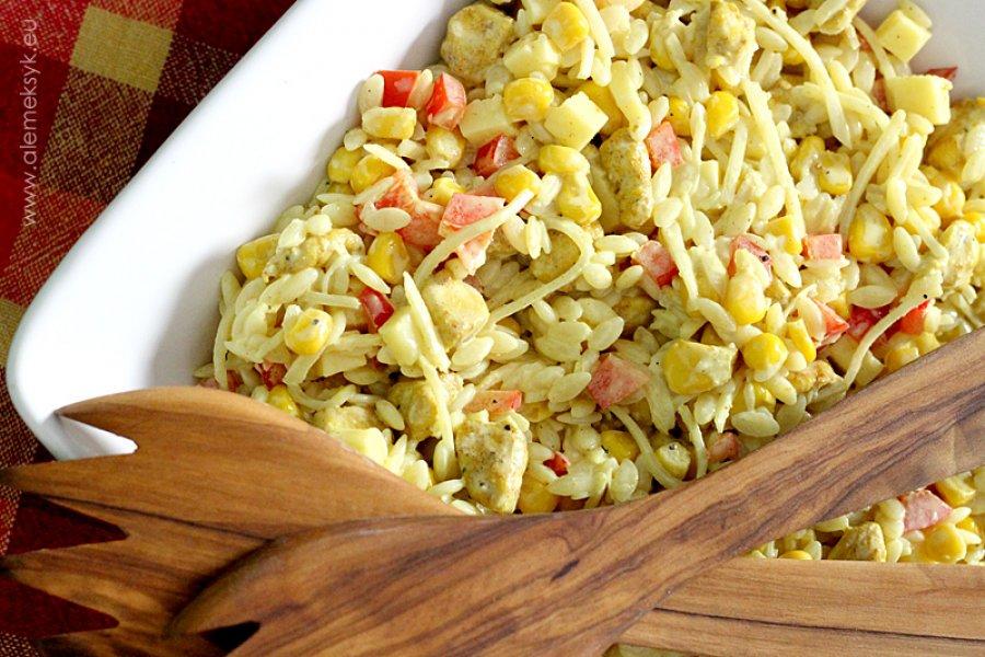 Salatka Z Makaronem Ryzowym Kurczakiem W Curry I Ananasem Blog