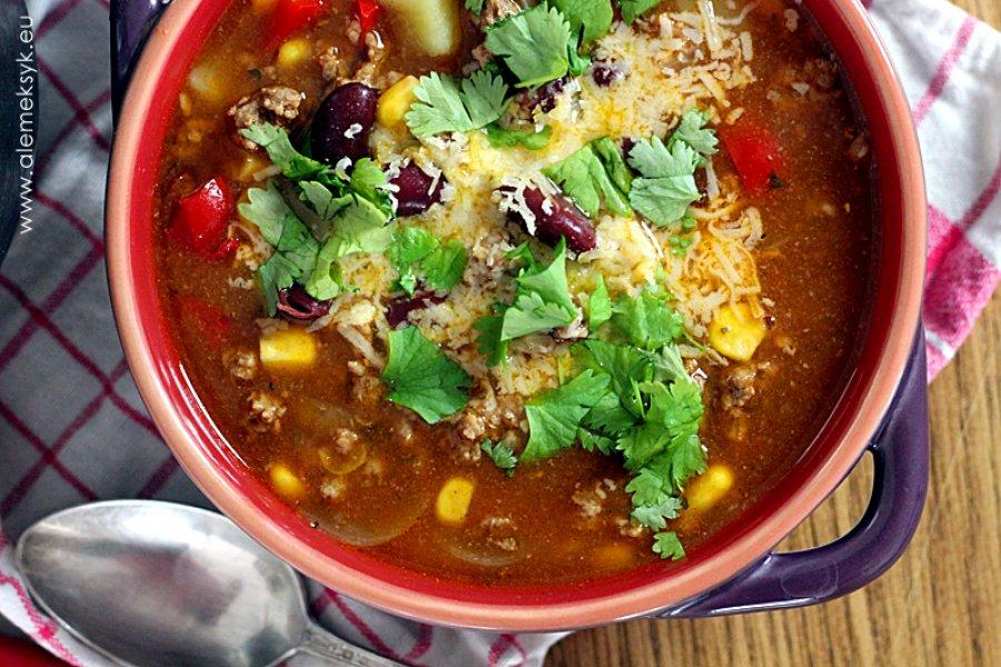 Pikantna Zupa Meksykańska Z Mięsem Mielonym Pyszny Sposób