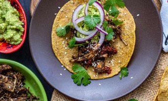 Tacos z kurczakiem w sosie mole poblano - prosto i przepysznie