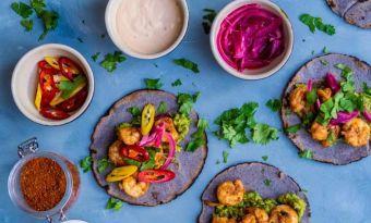 Tacos de camaron - czyli cudownie pyszne i kolorowe taco z krewetkami