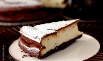 Sernik o kakaowym spodzie