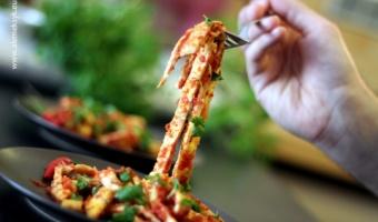 Meksykański omlet a'la tagliatelle
