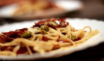 Spaghetti z chorizo