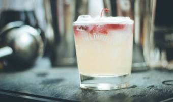 New York Sour - drink na bazie whiskey Jack Daniel's