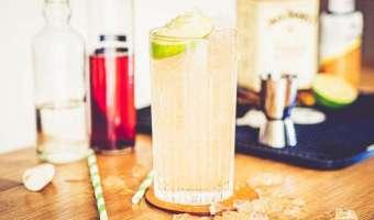 Jack Daniel's Honey i shrub śliwkowy - cudowny drink na letnie orzeźwienie