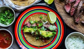 Tacos Carne Asada - grillowana wołowina w cudownej meksykańskiej marynacie