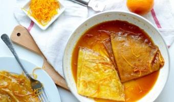Crepes Suzette - francuskie naleśniki w likierze pomarańczowym