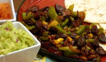 Tacos z chorizo